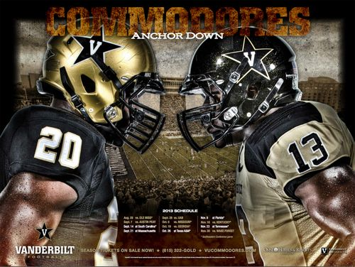 Vanderbilt Commodores 2013 poster schedule