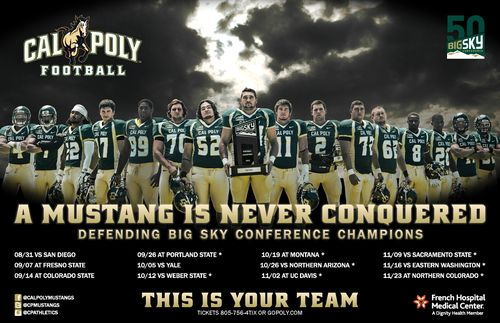 Cal Poly Mustangs 2013 poster schedule