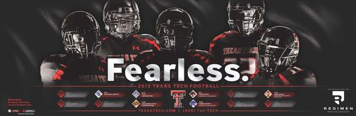 Texas Tech Red Raiders 2013 poster schedule