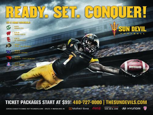 Arizona State Sun Devils 2013 poster schedule