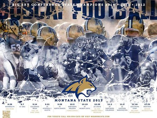Montana State Bobcats 2013 poster schedule