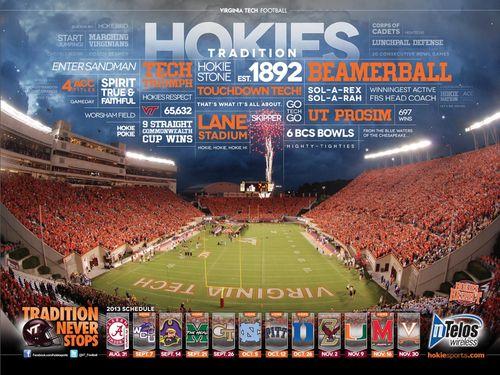 2013 Virginia Tech football poster