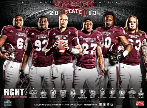 Mississippi State Bulldogs 2013 poster schedule