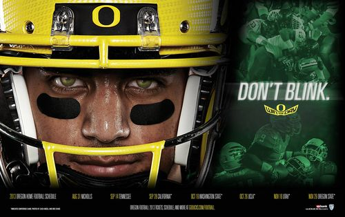 Oregon Ducks 2013 poster schedule