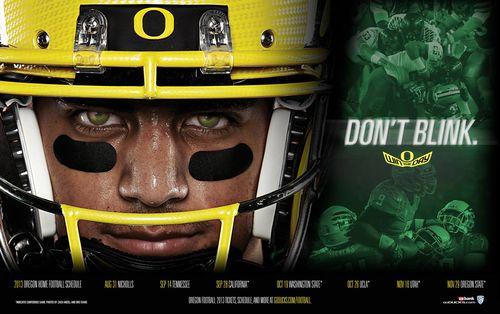 Oregon Ducks 2013 poster schedule
