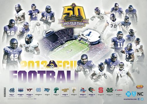 East Carolina Pirates 2013 poster schedule