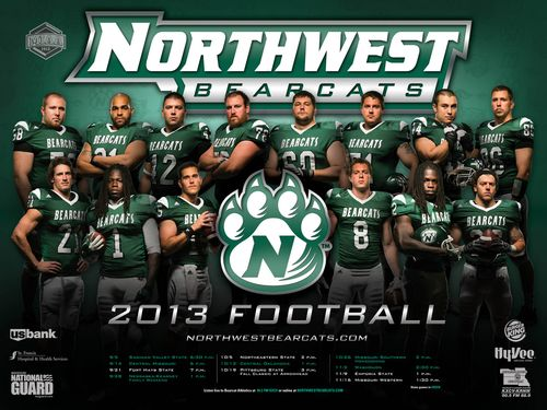 Northwest Missouri State Bearcats 2013 poster schedule