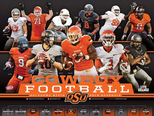 Oklahoma State Cowboys 2013 poster schedule
