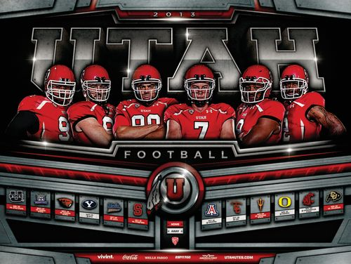 Utah Utes 2013 poster schedule