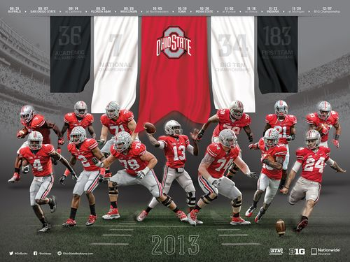 Ohio State Buckeyes 2013 poster schedule