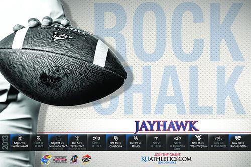 Kansas Jayhawks 2013 poster schedule