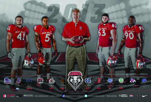 New Mexico Lobos 2013 poster schedule