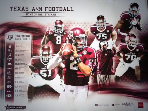 Texas A&M 2013 poster schedule Manziel