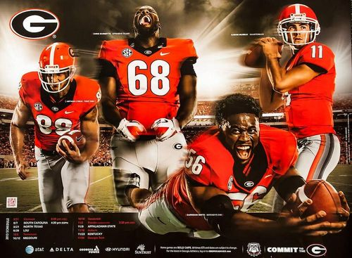 Georgia Bulldogs 2013 poster schedule