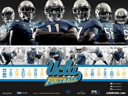 UCLA Bruins poster schedule 2013