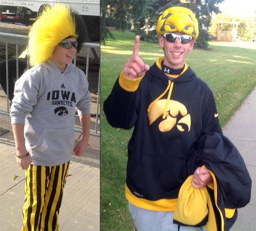 Iowa Hawkeye uniforms