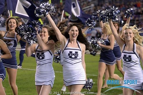 Utah State Aggies cheerleaders