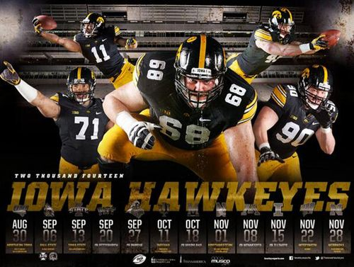 Iowa hawkeyes 2014 poster schedule