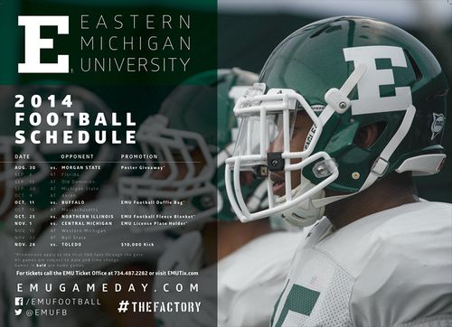 Eastern Michigan 2014 poster schedule