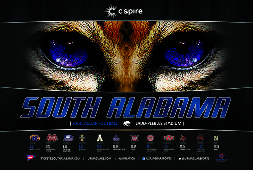 South Alabama 2014 poster schedule