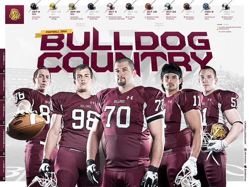 Minnesota Duluth Bulldogs 2014 poster schedule 1