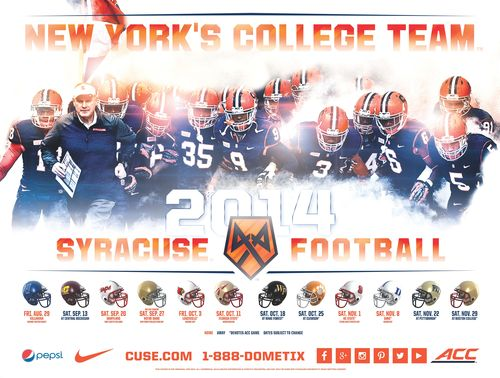 Syracuse Orange 2014 poster schedule