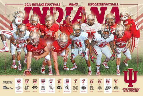 Indiana Hoosiers 2014 poster schedule