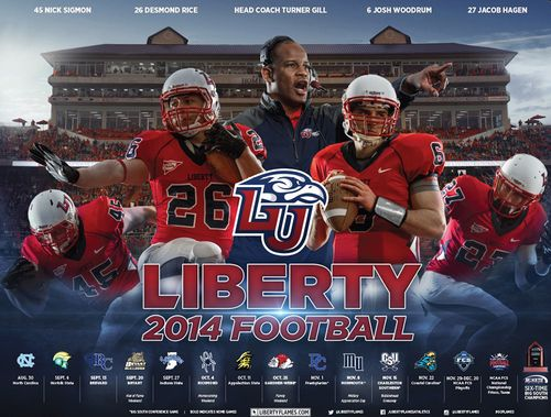 Liberty Flames 2014 schedule poster