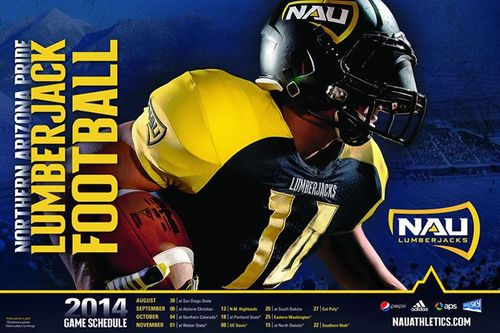 Northern Arizona Lumberjacks 2014 schedule poster
