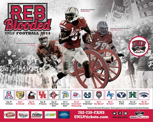 UNLV Rebels 2014 schedule poster
