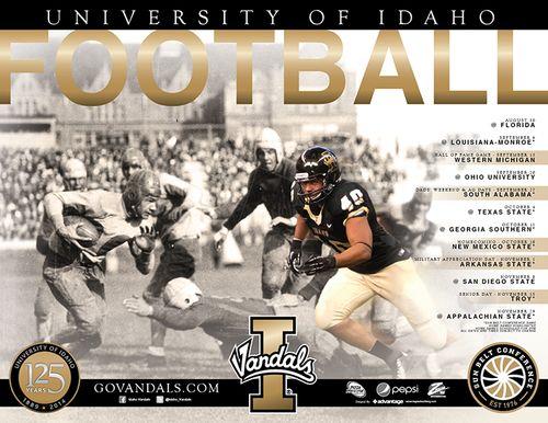 Idaho Vandals 2014 poster schedule