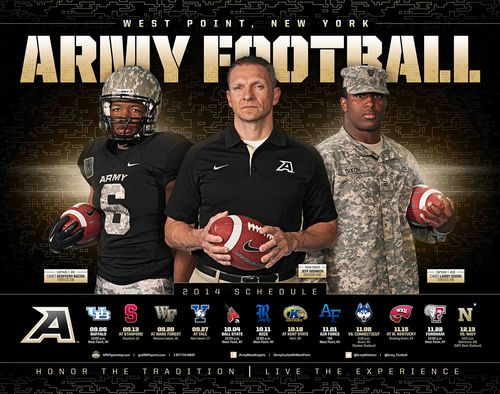 2014 Army Black Knight Football Poster