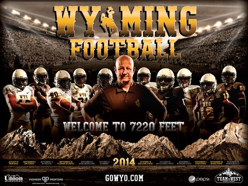 Wyoming Cowboys 2014 poster schedule