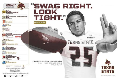 Texas State Bobcats 2014 poster schedule 4