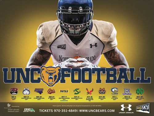 Northern Colorado Bears 2014 poster schedule