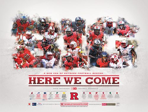 Rutgers Scarlet Knights 2014 poster schedule