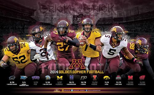 Minnesota Golden Gophers 2014 poster schedule