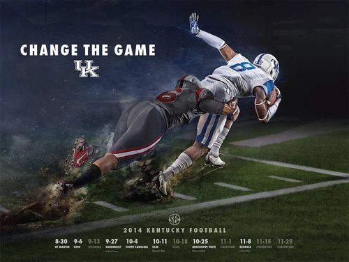 Kentucky Wildcats 2014 poster schedule 3