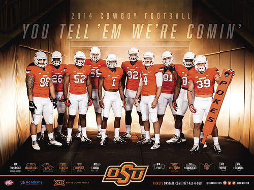 Oklahoma State Cowboys 2014 schedule poster