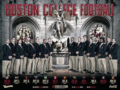 Boston College Eagles 2014 poster schedule