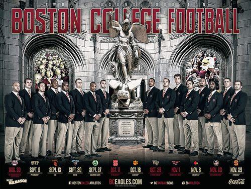 Boston College Eagles 2014 poster schedule