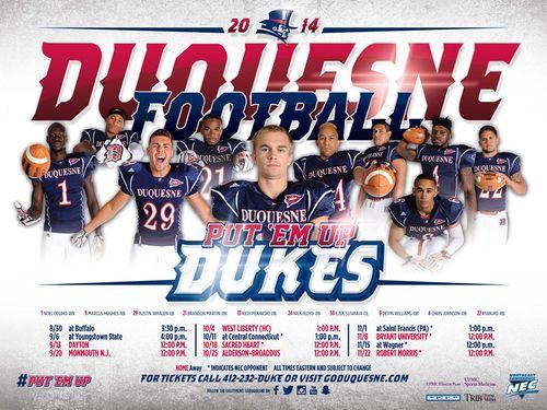 Duquesne Dukes 2014 poster schedule