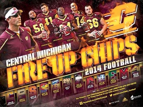 Central Michigan 2014 poster schedule