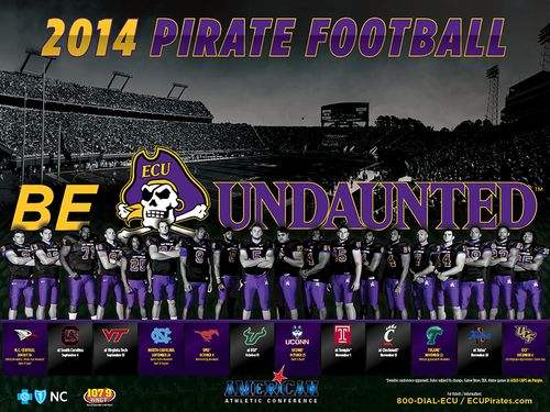 East Carolina Pirates 2014 poster schedule