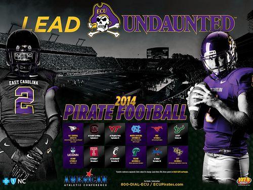 East Carolina Pirates poster schedule 2014