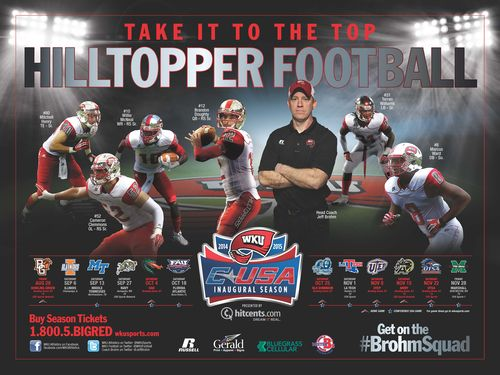 Western Kentucky Hilltoppers 2014 poster schedule