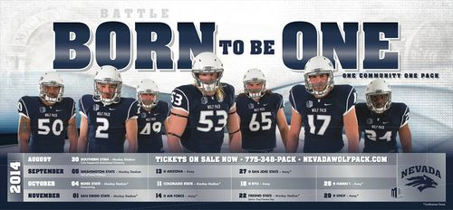 Nevada Wolf Pack 2014 poster schedule