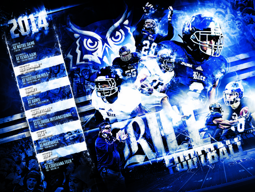 Rice Owls 2014 poster schedule