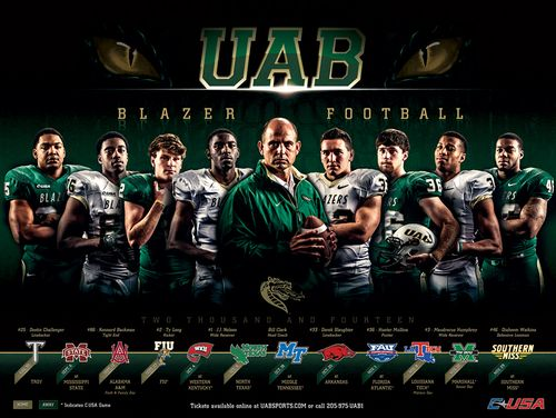 UAB 2014 poster schedule