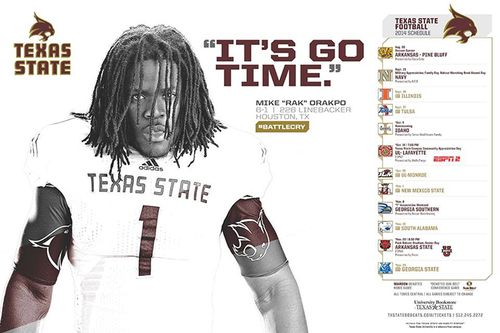 Texas State Bobcats 2014 poster schedule 1